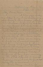 James, Frank. A collection of three letters, written from jail, regarding his trial.