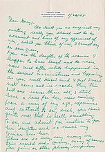 Cobb, Tyrus Raymond. Autograph letter signed (