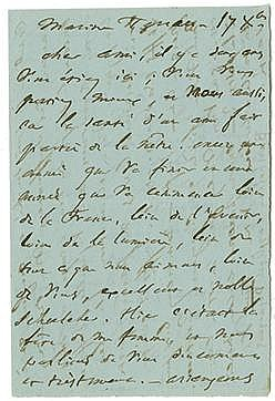 Hugo, Victor. Important collection of eight autograph letters, in French, to Victor Schoelcher.