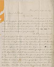 [Civil War - Prelude to War] An important collection of nine letters and documents.