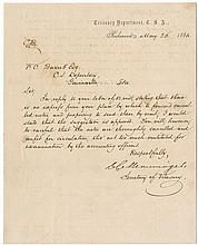 [Civil War - Financing the Confederacy] - A collection of four letters.