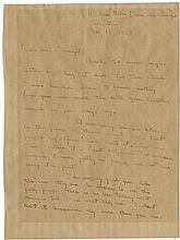 Hemingway, Ernest. Autograph letter signed, 2 pages quarto, Paris, 15 May 1925.