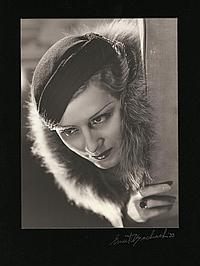 Trio of oversize exhibition portraits of Irene Dunne by Ernest A. Bachrach.