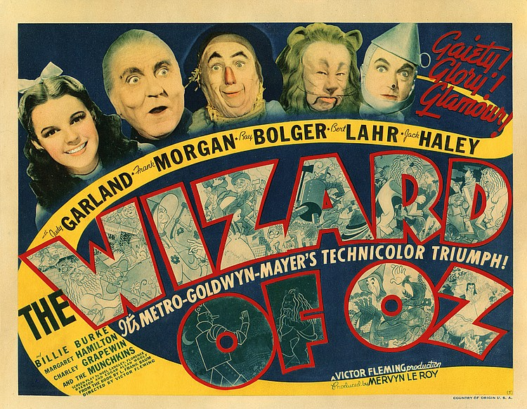 The Wizard of Oz title-lobby card.