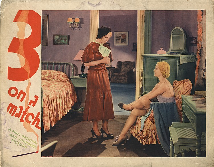 (5) lobby cards for Three on a Match.