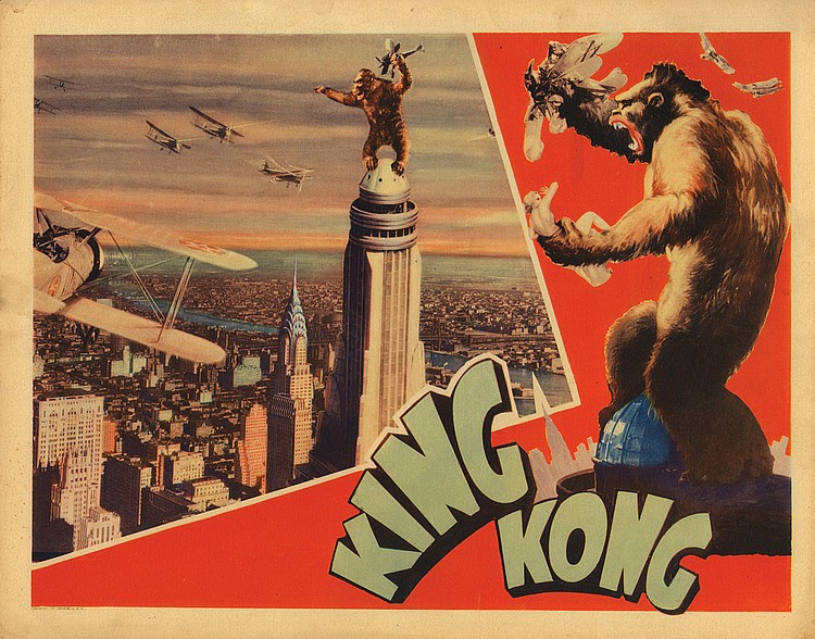 King Kong Empire State Building lobby card.