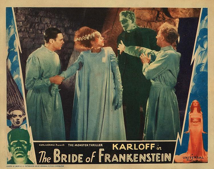 Lobby card for The Bride of Frankenstein.