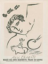 Chagall, Marc and Joan Miro. (2) Printed exhibition bills signed.