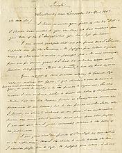 Buchanan, James. Remarkable political autograph letter signed (