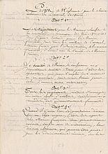 [Bonaparte, Napoleon]. Pair of manuscript documents (ca. 1797).