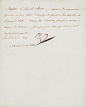 Bonaparte, Napoleon. Letter signed (