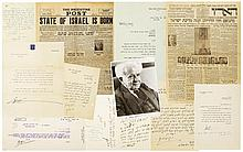 Ben-Gurion, David. A Life in Letters: signed photograph, 9 autograph letters signed, 18 TLS.
