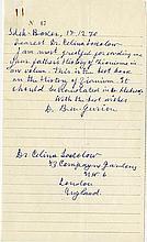 Ben-Gurion, David. Autograph letter signed (
