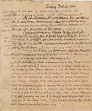 Adams, John. Autograph letter signed (
