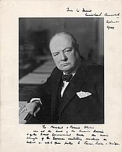 Churchill, Winston. Incredible large photograph inscribed to Joseph Stalin.