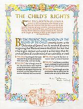 Churchill, Winston / Dwight D. Eisenhower / Bernard L. Montgomery. Illuminated manuscript document.