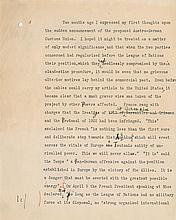 Churchill, Winston. Hand-annotated typescript signed (