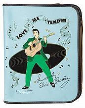 Vintage blue Elvis Presley school binder.