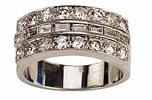 Elvis Presley's custom-made diamond and platinum wedding ring for his marriage to Priscilla.