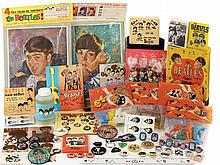 Large assortment of The Beatles collectibles.