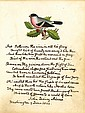 Adams, John Quincy. Autograph original poem signed.