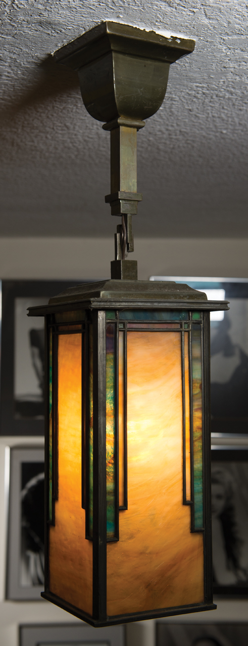 Mission Style Arts Crafts Hanging Light Fixture