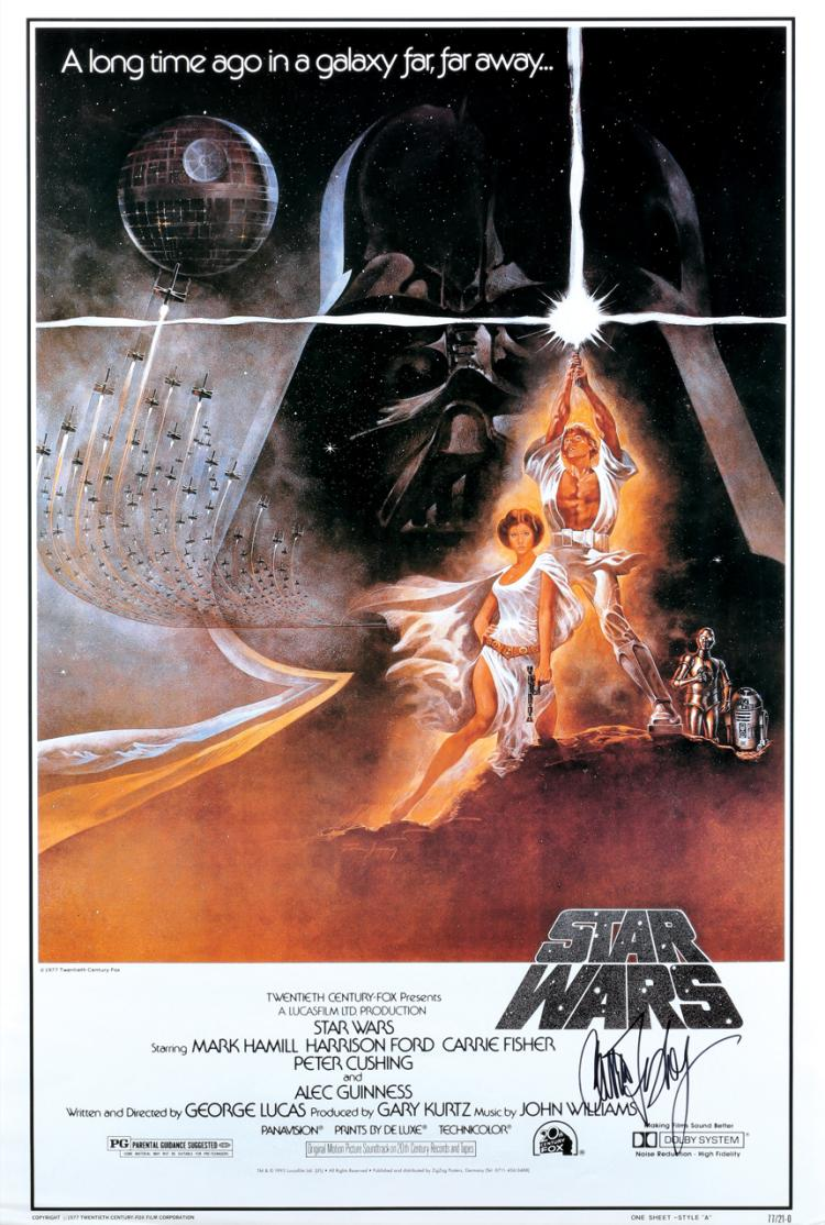 Star Wars Episode Iv A New Hope Commercial Reprint Poster