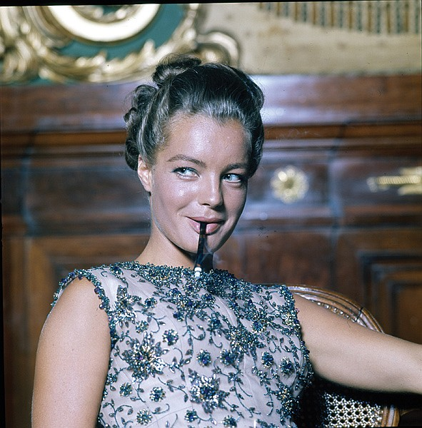 Collection of (911) black-and-white and color camera negatives and transparencies of Romy Schneider
