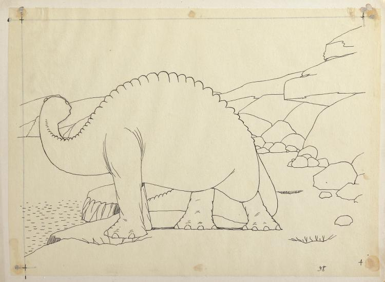 Windsor McCay production drawing of