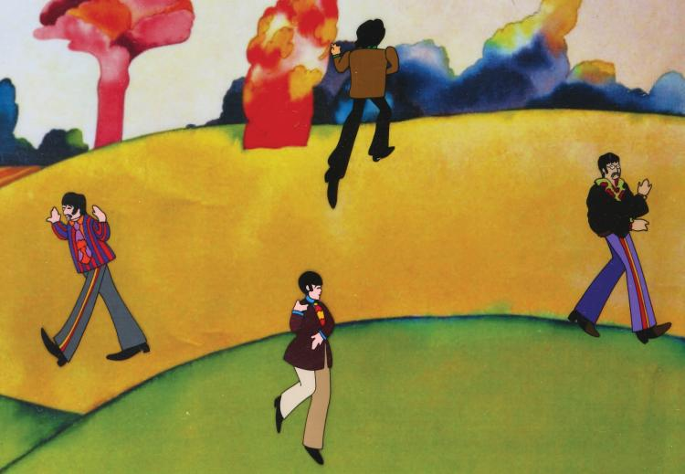 The Beatles production cels of