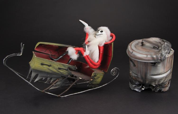 """Jack Skellington"""" reference maquette and coffin sleigh from"""