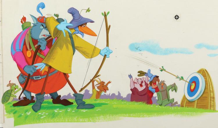 Walt Disney Productions Robin Hood Little Golden Book Colle