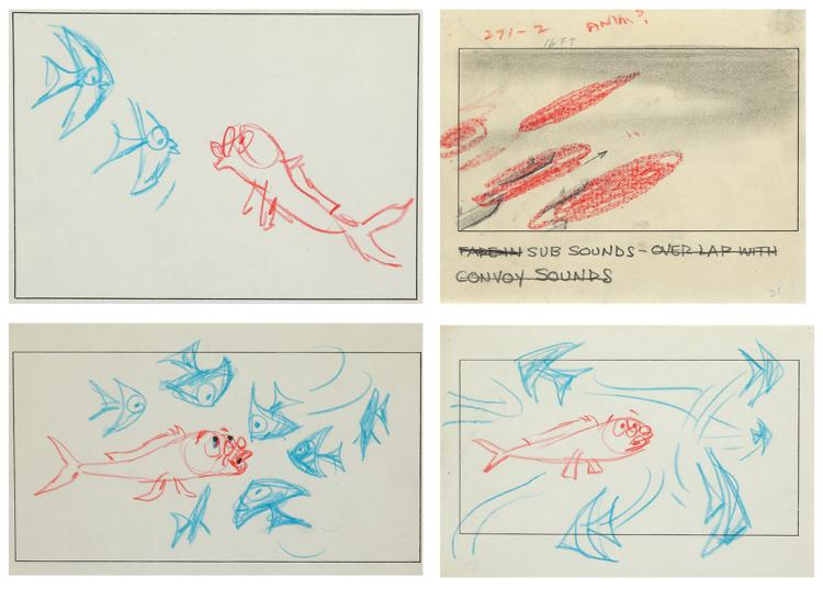 The Incredible Mr. Limpet (4) storyboards.
