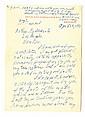 Getty, Jean Paul. Autograph letter signed