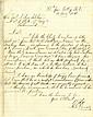 Lee, Robert E. Autograph letter signed