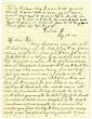 James, Frank. Autograph letter signed