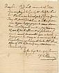 Henry, Patrick. Autograph letter signed