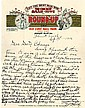 Cody, William F. Autograph letter signed