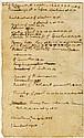 Jefferson, Thomas. Autograph manuscript