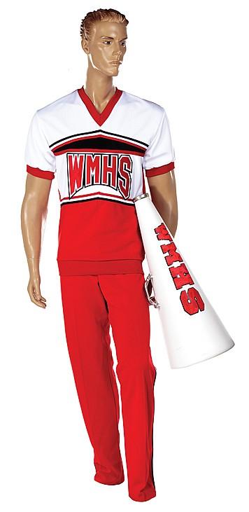 Cheerios male cheerleaderu2019s uniform and accessories.