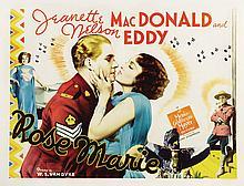 Rose Marie vintage linen-backed half-sheet poster.