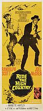 Ride the High Country insert poster signed by Randolph Scott.