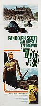 Seven Men from Now Randolph Scott signed insert poster.