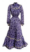Cloris Leachman blue period dress from 1960s Western television show.