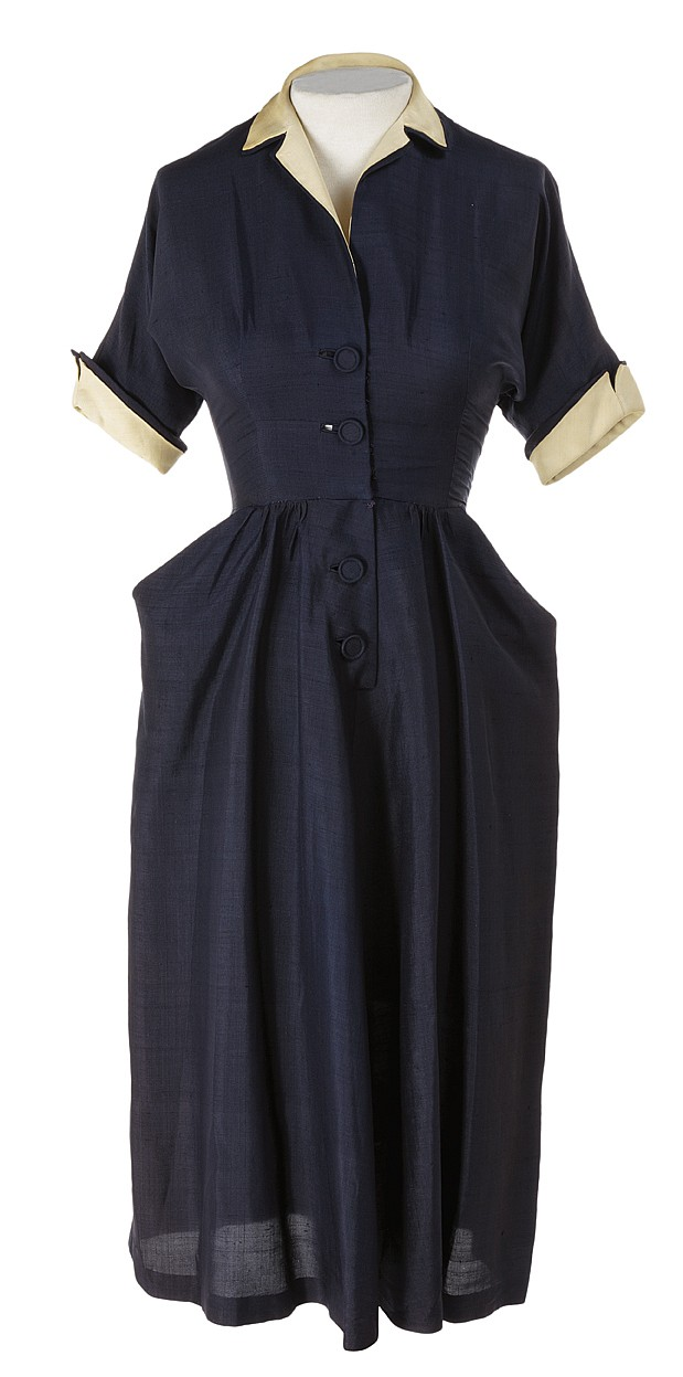 Group of (31) Women's dresses, skirts and tops dating from the 1940s and 1950s.