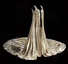 Irene Sharaff designed long robe worn by Janet Hadland in the Ziegfeld number from Funny Girl.