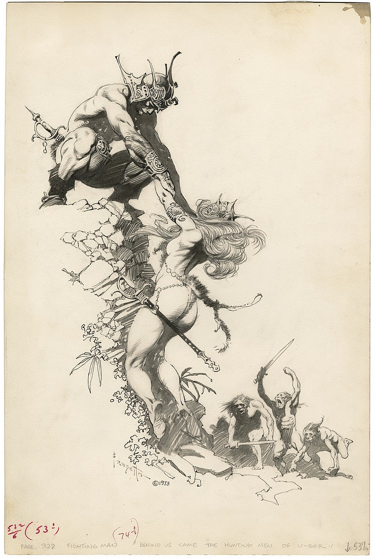 (Frazetta) The Rescue.