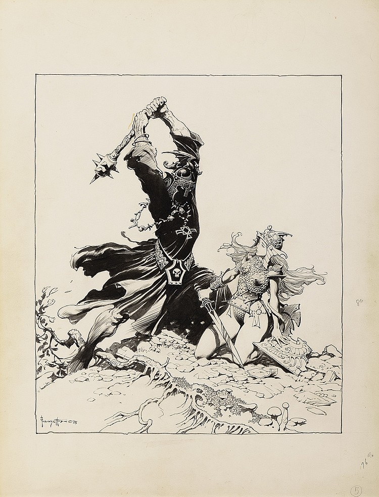 """(Frazetta) Lord of The Rings: """"The Black Nazgul""""."""