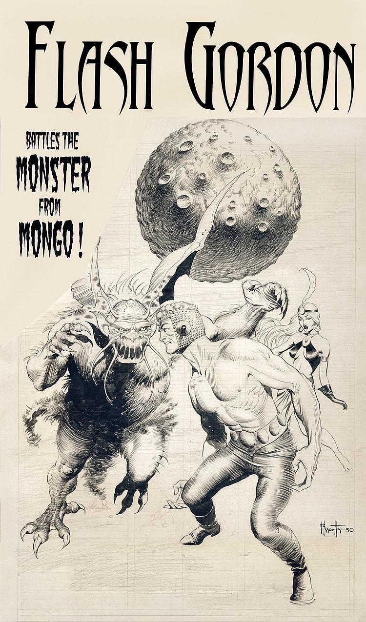 """Flash Gordon """"Battles the Monster from Mongo""""."""