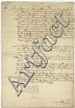 Francis I. Fine document signed (